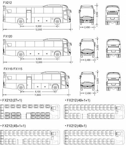 Daewoo FX212 FX120 FX116