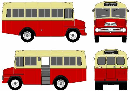Ford E Thames Trader Bus (1961)