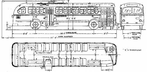 A.C.F. TROLLEY COACH TYPE T-46 LA Transit Lines