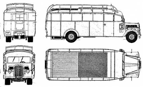 Opel Blitz Omnibus 3.6-47 Staffswagen