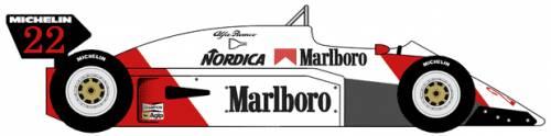 Alfa Romeo 183T Formula One Grand Prix car (1983)