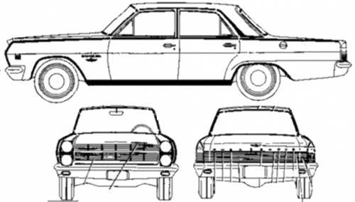 AMC Rambler Ambassador 880 4-Door Sedan (1966)