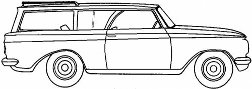AMC Rambler American 220 2-Door Station Wagon (1963)