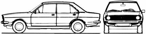 Audi 80 4-Door L (1973)