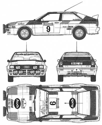 Audi 80 Quattro Rally