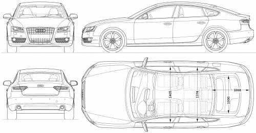 Blueprints   Cars      Audi         Audi       A5       Sportback        2011