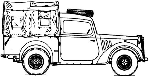 Austin 10hp 4x2 Light Utilitiy 'Tilly'