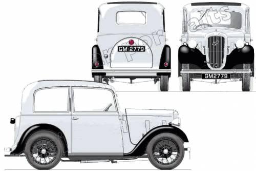 Austin 7 Ruby Saloon ARQ (1934)