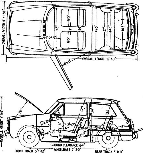Austin A40 Mk II Deluxe (1963)