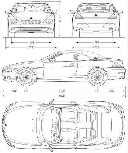 Blueprints > Cars > BMW > BMW 6-series Convertible (E63