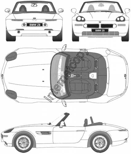 Bmw X8 For Sale: Blueprints > Cars > BMW > BMW Z8 (E52