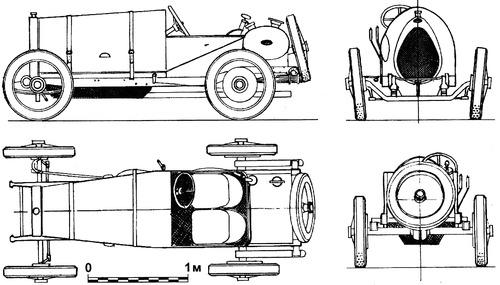 Bugatti Type 13 Brescia (1913)