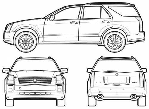 Blueprints Gt Cars Gt Cadillac Gt Cadillac Srx 2007