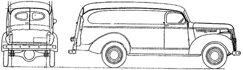 Chevrolet 0.75ton Panel Delivery (1942)