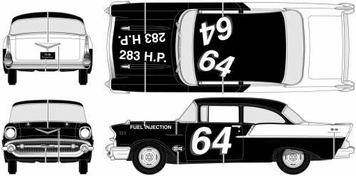 Chevrolet 150 Sedan Black Widow (1957)