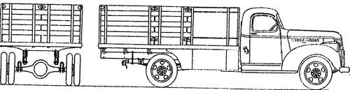 Chevrolet 1.5ton Stake Truck (1942)