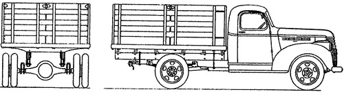 Chevrolet 1ton Stake Pick-up (1942)