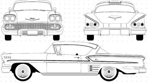 Chevrolet Impala 2-Door Hardtop (1958)