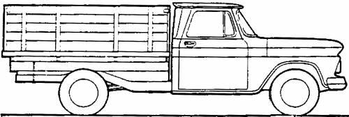 Chevrolet L5309 Stake Truck 1.5t (1970)