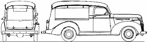 Chevrolet Light Delivery Canopy Express (1941)