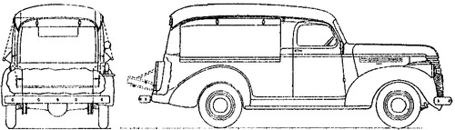 Chevrolet Light Delivery Canopy Express (1942)
