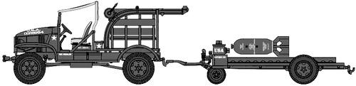 Chevrolet M6 4x4 Bomb Service Truck + M5 Trailer