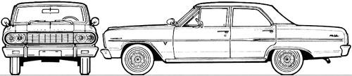 Chevrolet Malibu 4-Door Sedan (1964)