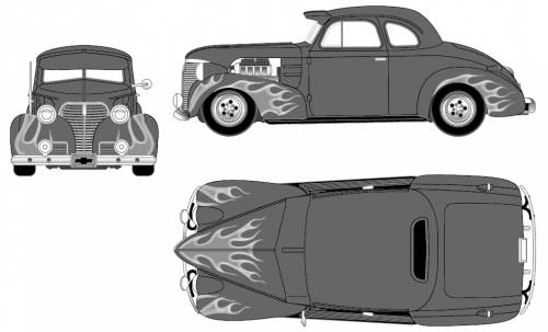Chevrolet Master DeLuxe Coupe Custom (1939)