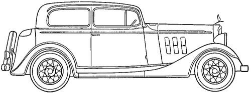 Chevrolet Master Six Town Sedan (1933)