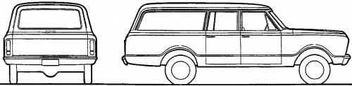 Chevrolet Suburban Carryall K10 4x4 (1967)