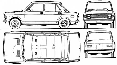 Fiat 128 4-Door (1972)