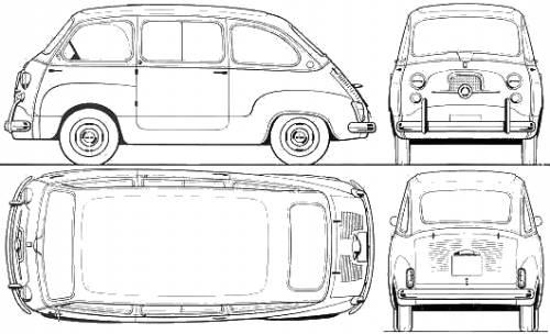 Fiat 600 Multilpa (1964)