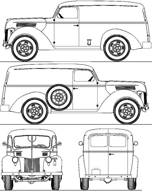 Ford D Model 87C Panel Van (1941)