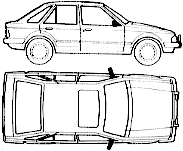 Ford E Escort Mk.III 5-Door Laser (1985)