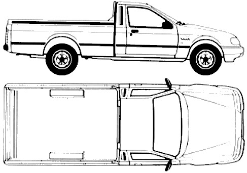 Ford E P100 Pick-up (1988)