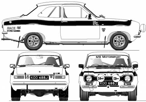 Ford Escort Mk1 RS 1600 Rally