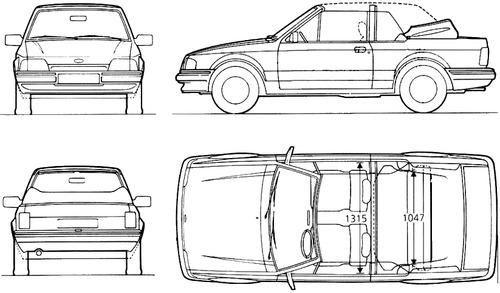 Ford Escort Mk.III Cabrio