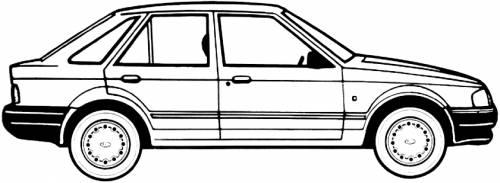 Ford Escort Mk.IV 1.4L 5-Door (1988)