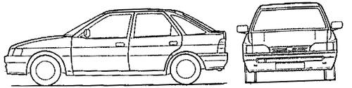 Ford Escort Mk.IV 5-Door (1990)
