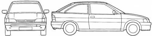 Ford Escort Mk.V 3-Door (1994)
