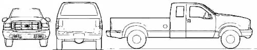 F250 Bumper Blueprints : Blueprints gt cars ford f super cab pick up