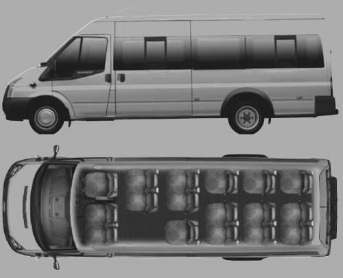 Blueprints Gt Cars Gt Ford Gt Ford Transit Minibus 17 Seat