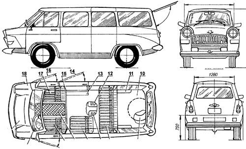 GAZ-21 Volga Van