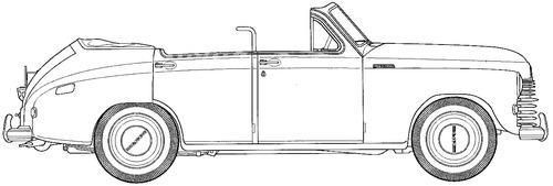 GAZ-M20 Pobeda Cabriolet NII-21 (1947)