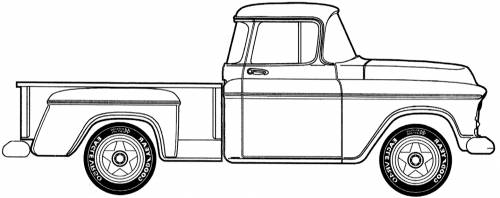 GMC Stepside 0.5 ton Pick-up (1957)