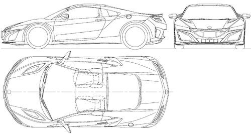 blueprints cars honda honda nsx