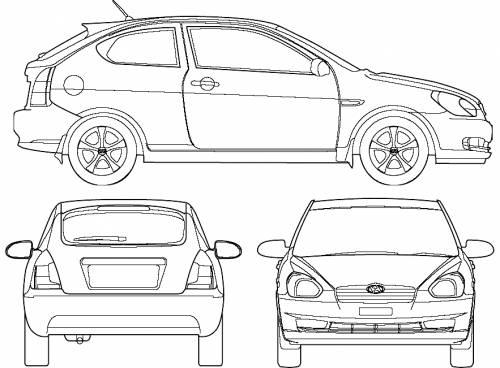 Hyundai Accent 3-Door (2007)