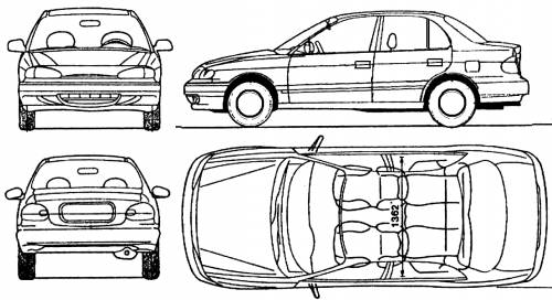 Hyundai Accent 4-Door (1994)