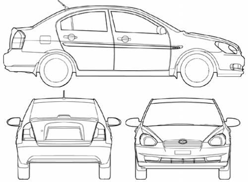 Hyundai Accent 4-Door (2008)