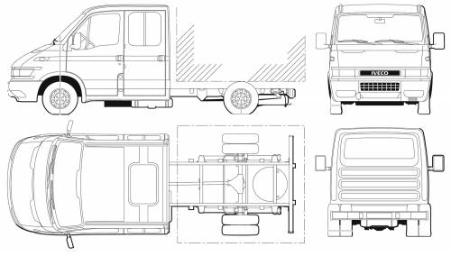 Iveco Daily 40C14 Dual Cab Chassis
